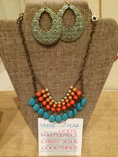 Sunset necklace with Full Bloom earrings from #premierdesigns