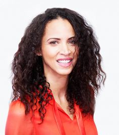 In love with Noémie Lenoir's bouncy curls and pink lip color