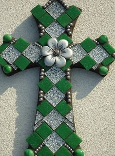 Items similar to Mosaic Cross - New Life on Etsy Mosaic Crosses, Wooden Crosses, Crosses Decor, Wall Crosses, Mosaic Crafts, Mosaic Projects, Mosaic Art, Cross Love, Sign Of The Cross