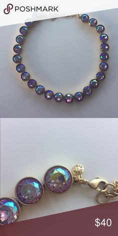 J. CREW HOLOGRAPHIC PURPLE BLUE NECKLACE BNWOT - Never worn, in great condition. No jewels are missing. All reasonable offers are welcomed. Will not discuss prices in comments, please use offer option. NO TRADES. J. Crew Jewelry