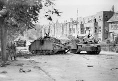 StuG III on the streets of Arnhem, during a counterattack during operation Market Garden, September 1944