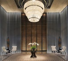 Keraton at the Plaza—Lobby at night by Luxury Collection Hotels and Resorts, via Flickr