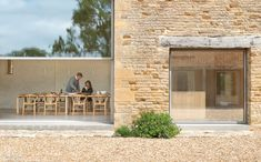 """Spring. The barn dining room. Twenty years after Interior Design Hall of Famer John Pawson collaborated on acclaimed cookbook """"Living and Eating"""" with food writer Annie Bell, he decided to revisit the connection between food and architecture on a more personal level. #InteriorDesign #Architecture #Exteriors"""