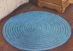 Best Free Crochet » Circular Rug – Free Crochet Pattern