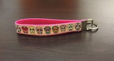 Day of the Dead / Dia De Los Muertos FOB Keychain by ByChinchie