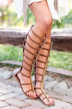 Too Fierce For Words Gladiator Sandals - Chestnut from Closet Candy Boutique #fashion #ootd