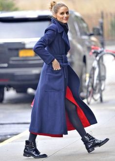 Olivia Palermo in Blue wool coat -07 - Posted on January 12, 2017
