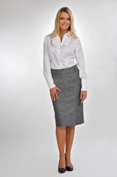 ideal for an important meeting Office Style, Business Outfits, Office Fashion, Elegant Woman, Skirt Outfits, Workwear, Your Style, Dresses For Work, Glamour