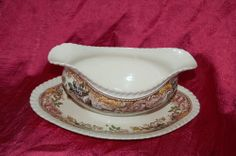 My China.  Devonshire China Gravy Boat Johnson Bros Pattern Number 118579
