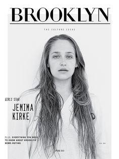 Brooklyn Magazine Spring 2013 Jemima Kirke El titular pertenece a la categoría con serif-ROMANA MODERNA