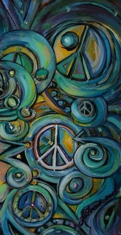 ✌Peace Sign Collage Art #cGreens