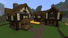 Cozy Medieval House and Inn Minecraft farm house Minecraft medieval Minecraft farm