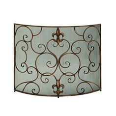 Turn up the heat while protecting yourself from the flames in your fireplace with a pretty screen. Fleur De Lis Fireplace Screen | Weekends Only Furniture and Mattress