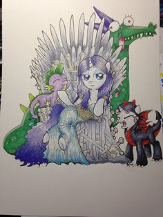 Rarity Iron Throne, People Sitting, Rarity, Game Of Thrones, Dragon, Fictional Characters, Dragons, Fantasy Characters