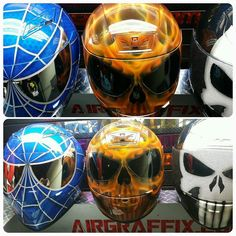 Custom Airbrushed Motorcycle Helmet by Airgraffix.com 252