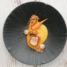 """2,006 Likes, 5 Comments - Chef's Roll, Inc. (@chefsroll) on Instagram: """"Scallop - carrot - peanut - by @n.henkel #rollwithus #chefsroll"""""""