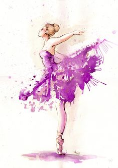 low cost healthy recipes for two people kids pictures Ballerina Kunst, Ballerina Painting, Ballet Art, Ballet Dancers, Ballet Drawings, Art Drawings, Watercolor Pictures, Watercolor Paintings, Ballet Illustration