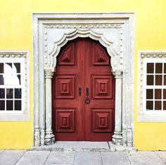 { Sintra, Portugal } Door at Pene National Palace, Travel Photo by @chrissihernandez