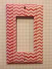 Great Christmas Gift Pink And Red Chevron Pattern Light Switch Cover For Bedroom