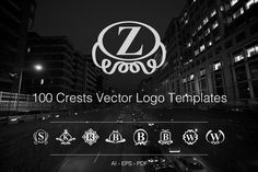 Check out 100 Crests Vector Logo Templates by SmartyBundles on Creative Market
