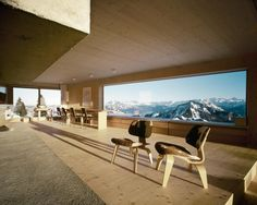 Spacious living room of a holiday house with a breathtaking view of the Swiss Alps, Scheidegg, Rigi, Canton of Schwyz, Switzerland [1600×1280] - Interior Design Ideas, Interior Decor and Designs, Home Design Inspiration, Room Design Ideas, Interior Decorating, Furniture And Accessories
