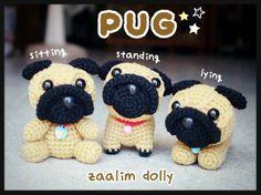 Amigurumi Pug doll
