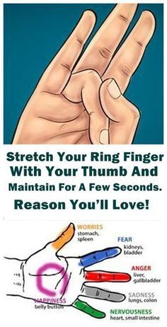 Stretch Your Ring Finger With Your Thumb And Maintain For A Few Seconds. Reason You'll Love! #life #world #love #health #finger