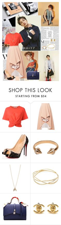 """""""Tell me that you love me even if it's a lie"""" by angiielf ❤ liked on Polyvore featuring T By Alexander Wang, Rodarte, Rebecca Taylor, Minor Obsessions, Alexis Bittar and Chanel"""