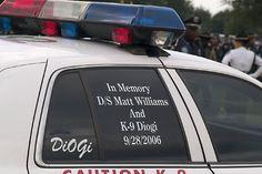 """Deputy Sheriff Vernon """"Matt"""" Williams & K-9 DiOGi. 9-28-06 LODD     Viettel IDC tại địa chỉ Tòa nhà CIT, Ngõ 15 Duy Tân - Cầu Giấy - Hà Nội:"""