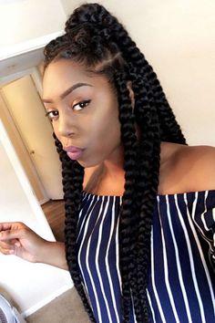 Jumbo Braids Inspiration - 25 Beautiful Black Women Show Us How To Slay In Jumbo Braids