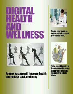 What to do to increase digital health Best Track, Digital Citizenship, Eye Strain, Health And Wellbeing, Health Problems, Holidays And Events, Health Care, Healthy Living, Stress