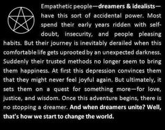 This speaks so clearly to how my life has unfolded thus far. *Amazing*  Now I can see my quest has just begun.
