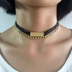 2 Layers Gold Plated Alloy Chain Choker