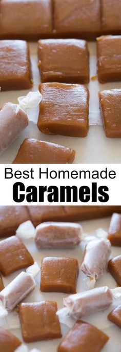 Homemade caramels are perfectly soft and chewy and so easy to make!  | tastesbetterfromscratch.com via @betrfromscratch