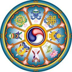 Os oito símbolos auspiciosos do budismo