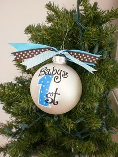 Eco-Friendly Freckles: Baby Bobby's First Christmas Ornament!