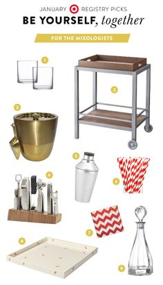 For the Mixologists: http://www.stylemepretty.com/2015/01/12/be-yourself-together-with-target-registry/