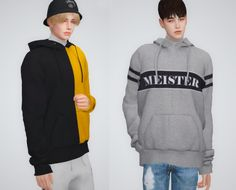 Oversized hoodie at Seze • Sims 4 Updates | Sims 4 men ...