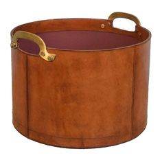 Cavenagh Linen Genuine Leather Bin