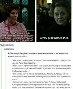 and it is an even bigger insult when you realize mcgonagall includes lockhart in the competent teachers LMAO