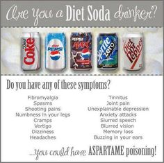 "If you drink diet soda please ready this!  Its so scary because this chemical is addictive! It's way more harmful that real sugar, but people don't think that when something says ""sugar free"" it still has something sweet in there. It does but it's just fake! Fake is NEVER better than natural people! WAKE UP!! Stop depending on the FDA and other government controlled agencies to tell you which foods/chemicals are safe to eat/drink. {rant over ;) }"
