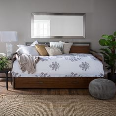 decker daybed full walnut add functional sleeping space to any room in your