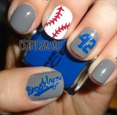 1000 Ideas About Dodger Nails On Pinterest Nails