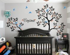 Personalized tree wall decal name decal wall by HappyPlaceDecals, $89.00