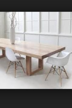 Dining tables melbourne google search midwood street pinterest timber table with modern white chairs malvernweather Image collections