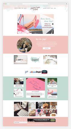 Home Page Design for Blogger Jessica Lynn Writes - Custom blog design