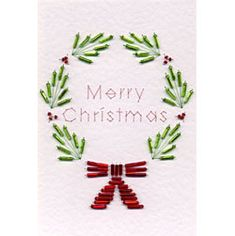 Bead Holly and Bow | Christmas patterns at Stitching Cards.