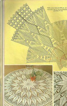 Muitos pins com gráficos bons. E clicar foto para visualizar melhor.Мобильный LiveInternet Muestras y Motivos Especial Panos 1 Crochet Tablecloth Pattern, Free Crochet Doily Patterns, Crochet Doily Diagram, Crochet Motifs, Crochet Mandala, Crochet Chart, Thread Crochet, Filet Crochet, Crochet Designs