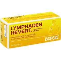 LYMPHADEN HEVERT Lymphdrüsen Tabletten:   Packungsinhalt: 40 St Tabletten PZN: 01213956 Hersteller: Hevert Arzneimittel GmbH & Co. KG…