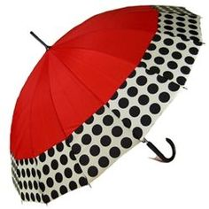 ShedRain Polka Dot Red Umbrella Fashion Umbrellas from Bella Umbrella Umbrella Art, Under My Umbrella, Dots Fashion, Red Fashion, Spring Fashion, Umbrellas Parasols, Damier, Singing In The Rain, Rain Gear